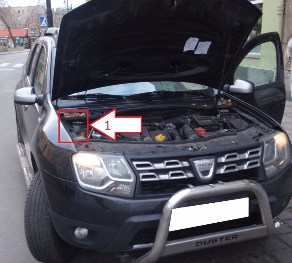 dacia duster 20013 2016 vin where is vin number find chassis number. Black Bedroom Furniture Sets. Home Design Ideas