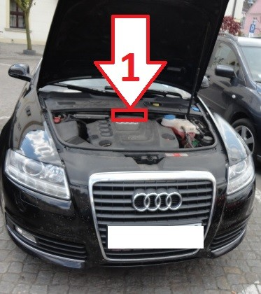 audi a6 2008 2011 vin where is vin number find chassis number. Black Bedroom Furniture Sets. Home Design Ideas