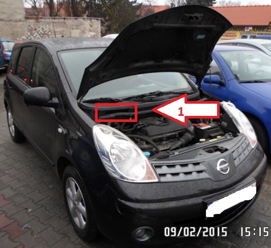 Nissan Note 2006 2013 Vin Location Com Where Is Vin
