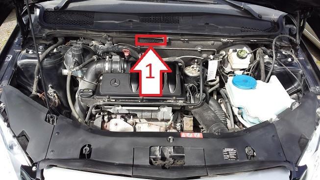 Mercedes benz b 180 2008 2011 kde je for Mercedes benz parts by vin number