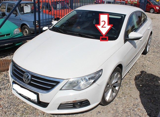 Check Car Vin >> Volkswagen Passat CC (2008-2011) - Where is VIN Number | Find Chassis Number