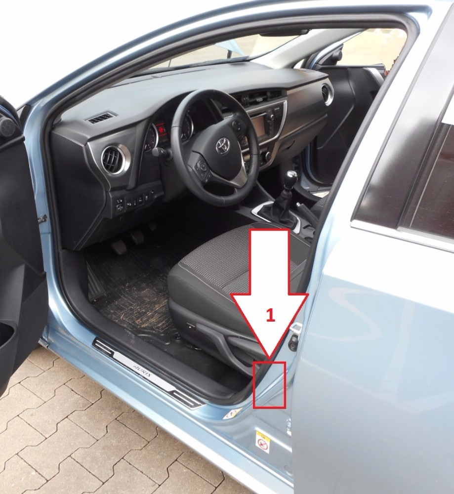 Toyota Auris (2012-2015) - Where is VIN Number | Find