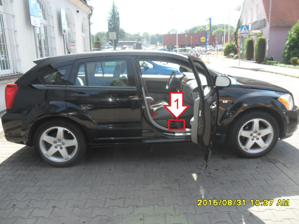 Dodge Caliber (2006-2009) - Where is VIN Number   Find