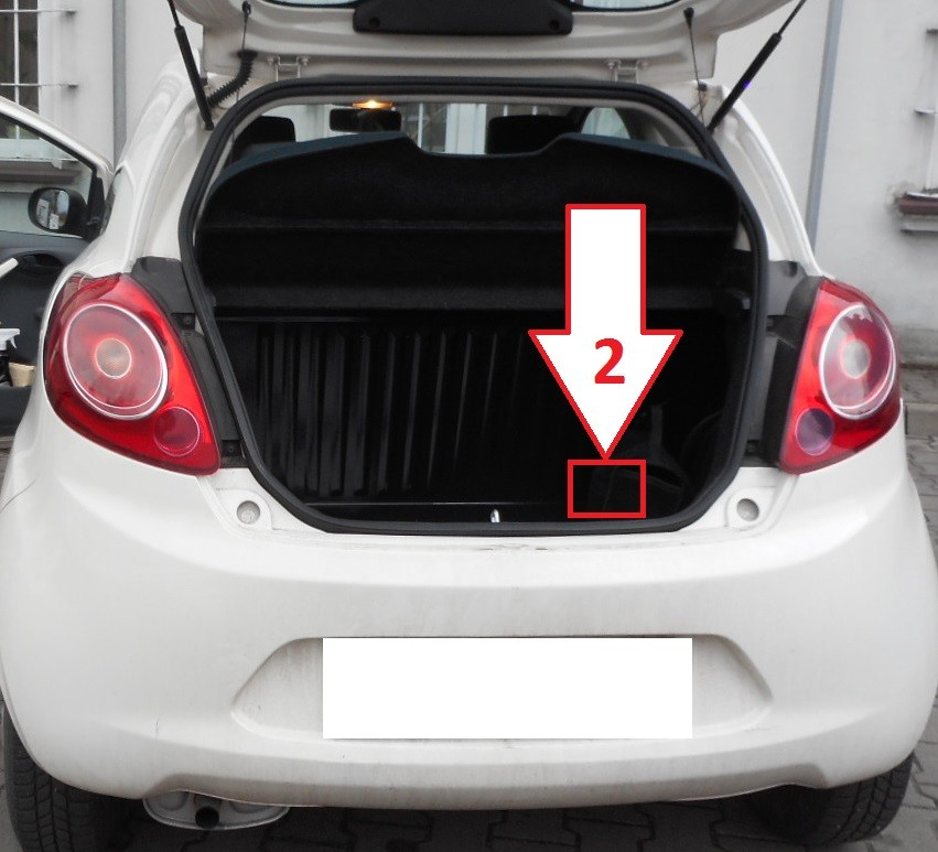 Ford Cars Vehicles: Ford Ka (2008-2015) - Where Is VIN Number