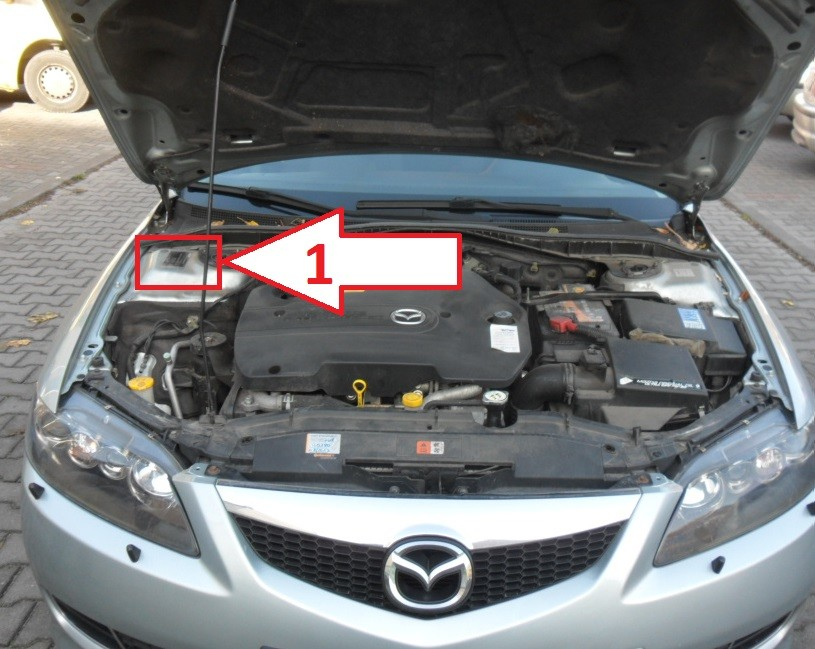 Mazda 6 (2005-2007) - Where is VIN Number | Find Chassis ...
