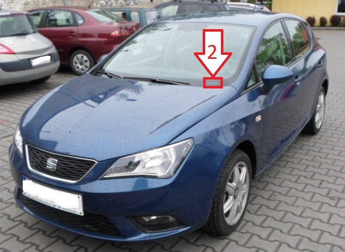 seat ibiza 2012 2014 where is vin number find chassis number. Black Bedroom Furniture Sets. Home Design Ideas