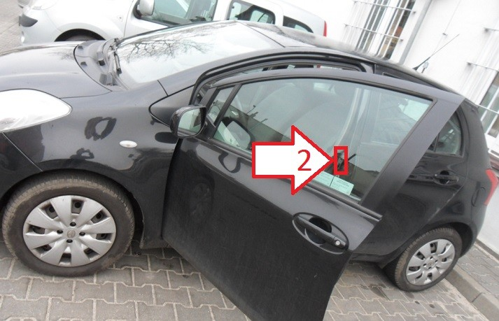 Toyota Yaris (2005-2008) - Where is VIN Number | Find ...
