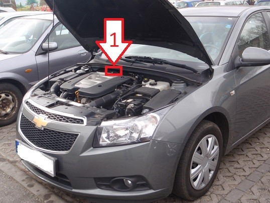 Chevrolet Cruze (2009-2013) - Where is VIN Number | Find