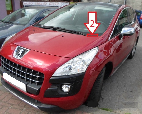 peugeot 3008 2009 2013 where is vin number find chassis number. Black Bedroom Furniture Sets. Home Design Ideas