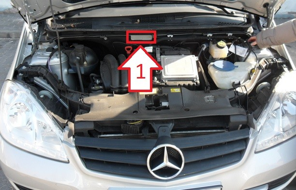 Mercedes benz a 160 2009 2012 where is vin number for Mercedes benz vin number location