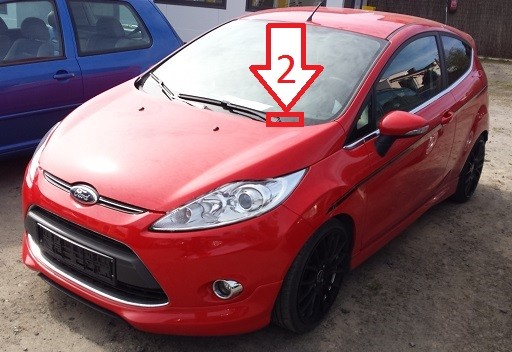 ford fiesta 2008 2012 where is vin number find chassis number. Black Bedroom Furniture Sets. Home Design Ideas