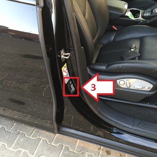 Porsche Cayenne (2010-2014) - Where is VIN Number | Find Chassis Number