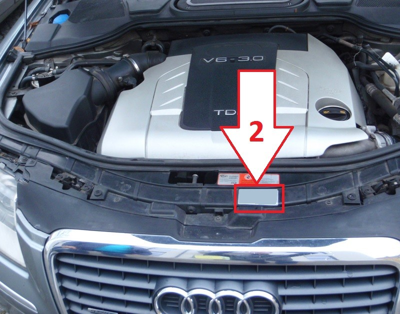 audi a8 (2003-2007) - where is vin number | find chassis number