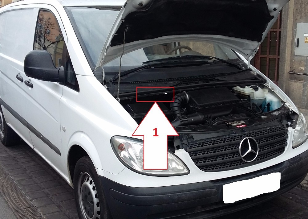 how to find chassis number on mercedes